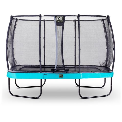 Exit trampoline Elegant Premium + veiligheidsnet Deluxe 244x427cm blauw