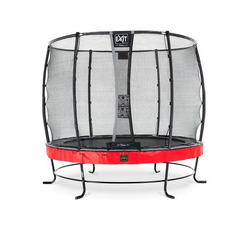 Exit trampoline Elegant Premium + veiligheidsnet Deluxe ø253cm rood