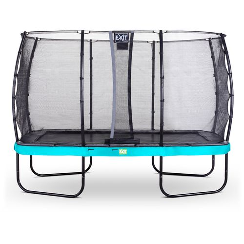 Exit trampoline Elegant + veiligheidsnet Economy 244x427cm blauw