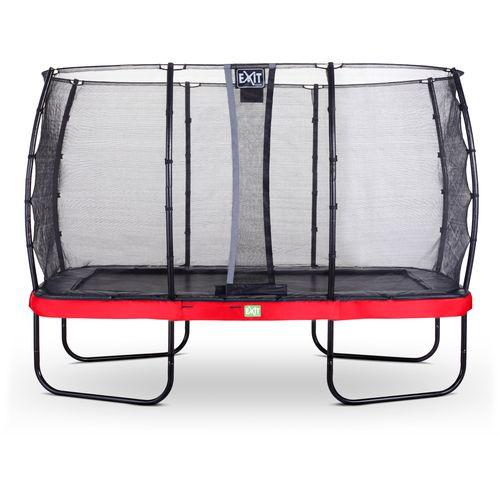 Exit trampoline Elegant + veiligheidsnet Economy 244x427cm rood