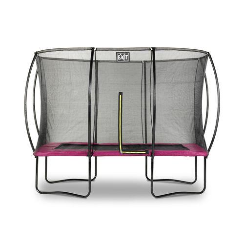 Exit trampoline Silhouette 214x305cm roze