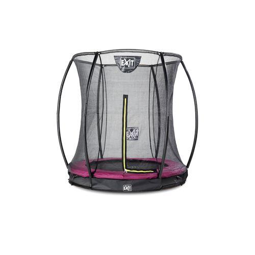 Exit in-ground trampoline Silhouette + veiligheidsnet ø183cm roze