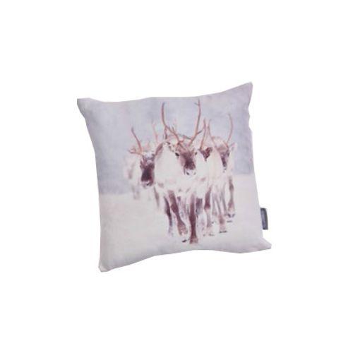 Coussin renne blanc 40x40cm
