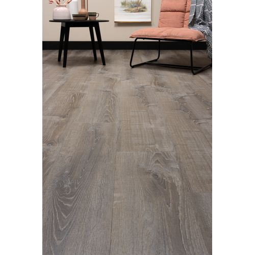 CanDo PVC-vloer De luxe Click gerookt eiken zilver 7,5mm 1,86m²