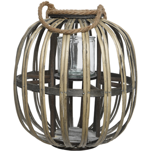 Lanterne 'Home' saule brun 35cm