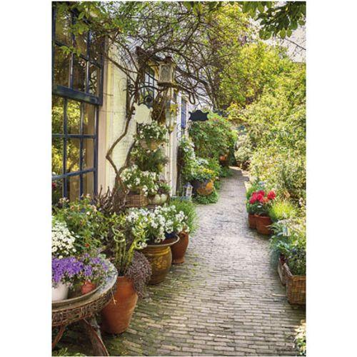 PB-Collection tuinschilderij Flower Alley 70x50cm