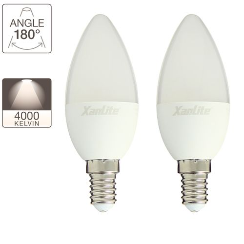 Ampoule LED Xanlite blanc froid 60W E14 - 2 pièces