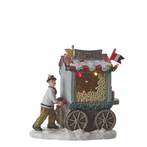 Kerstfiguur Popcorn Stal 11x7,5x12cm