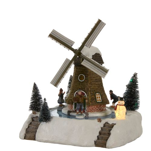 Étang de patinage Windmill blanc 24x24x28cm
