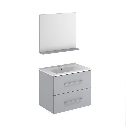 Meuble de salle de bain Royo Clik gris galet 70cm