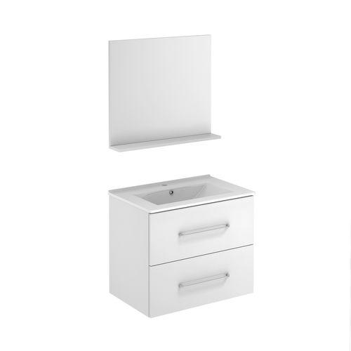 Meuble de salle de bain Royo Clik blanc brillant 70cm