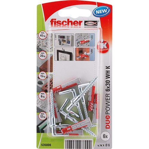 Fischer nylon plug DuoPower universeelplug 6x30 winkelhaak 6st.