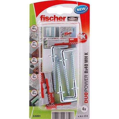 Fischer nylon plug DuoPower universeelplug 8x40 winkelhaak 4st.
