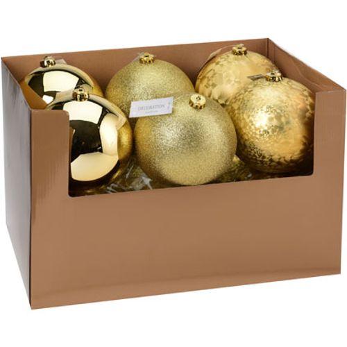 Kerstbal goud 1 stuk