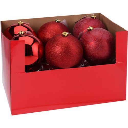 Kerstballen rood 1 stuk