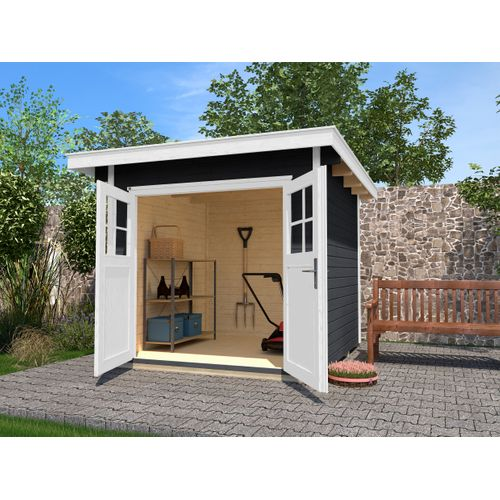 Weka tuinhuis 179 GR1 antraciet 209x235cm