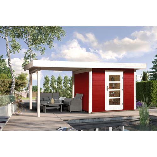 Abri de jardin Weka172 Type B GR2 rouge