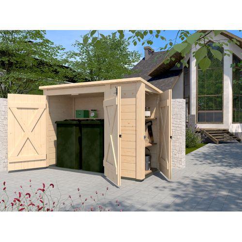 Armoire de jardin Weka 'Multibox 367' brun 215 x 152 cm