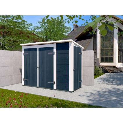 Armoire de jardin Weka 'Multibox 367' anthracite/blanc 215 x 152 cm