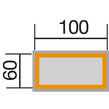 Weka moestuinbak 669D onbehandeld 60x100cm