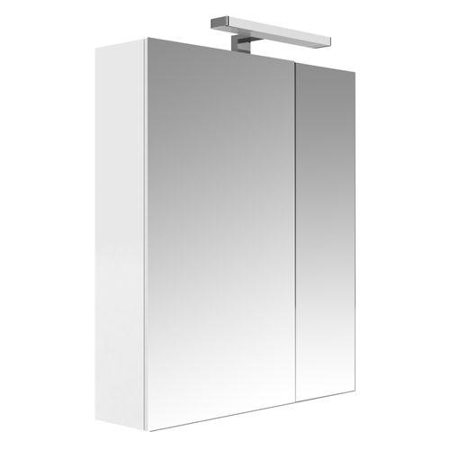 Allibert spiegelkast Juno met verlichting 60cm wit glanzend