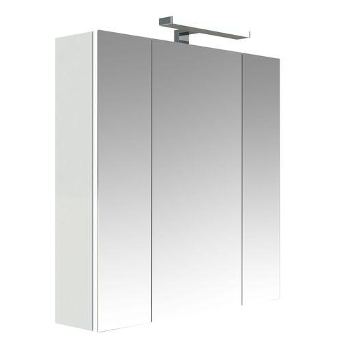 Allibert spiegelkast Juno met verlichting 70cm wit glanzend