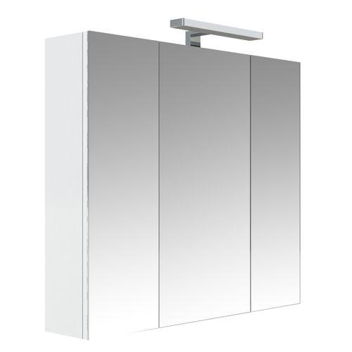 Allibert spiegelkast Juno met verlichting 80cm wit glanzend