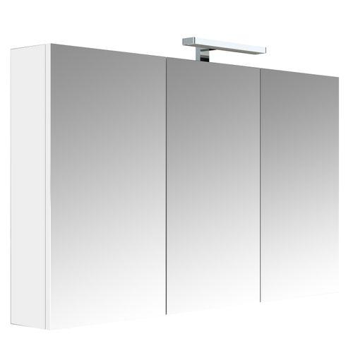 Allibert spiegelkast Juno met verlichting 120cm wit glanzend
