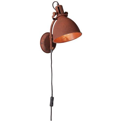 Brilliant wandlamp Jesper roest 60W