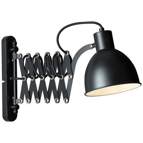 Brilliant wandlamp Sandra zwart E14