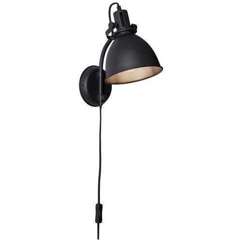 Brilliant wandlamp Jesper zwart E27