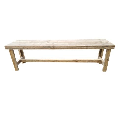 Banc de jardin Wood4you 'Rotterdam' bois de construction 160 x 38 cm