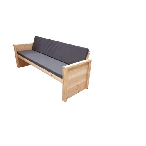 Wood4You loungebank 'Vlieland' bouwpakket douglashout met kussen 180cm