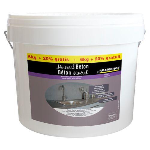 Enduit de décoration murs Résinence 'Béton minéral' gris clair 7,2kg
