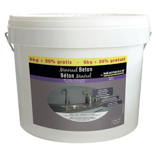 Résinence decoratieve plamuur 'Beton mineral' leiste grijs 7,2kg