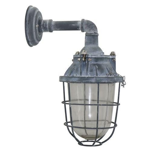 Brilliant wandlamp 'Storm' grijs 40W
