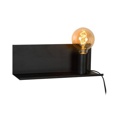 Lucide bedlamp zwart E27