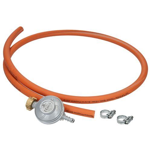 Sanivesk Shell Gasset Tuyau 1,5mtr + 37mbar de pression Régulateur de propane