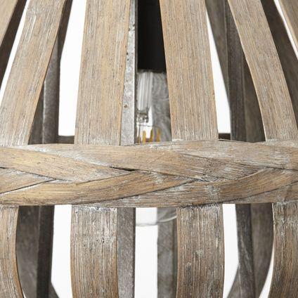 Brilliant pendellamp Kaminika bamboe Ø33cm