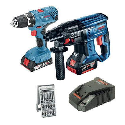 Set perceuse-visseuse + marteau perforateur Bosch Professional