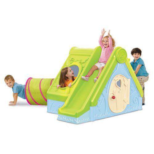 Keter speelhuis Funtivity kunststof groen-blauw