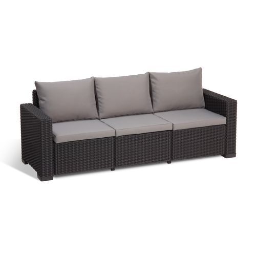 Allibert loungebank California wicker graphiet