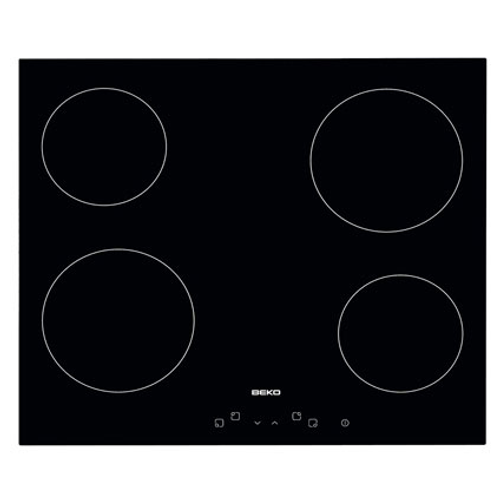Taque vitrocéramique Beko 'HIC 64401' noir 56cm