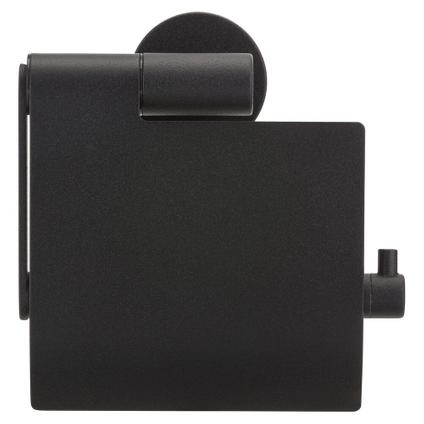Porte-papier de toilette + couvercle Tiger Boston noir mat à suspendre