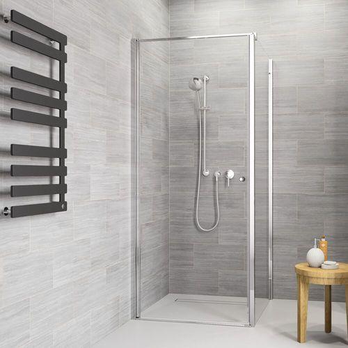 Sealskin | get wet Code Zijwand (links) voor combinatie met deuren m.u.v. pendeldeuren, 90cm,zilverhoogglans, 6mm helder veiligheidsglas met anti-kalk