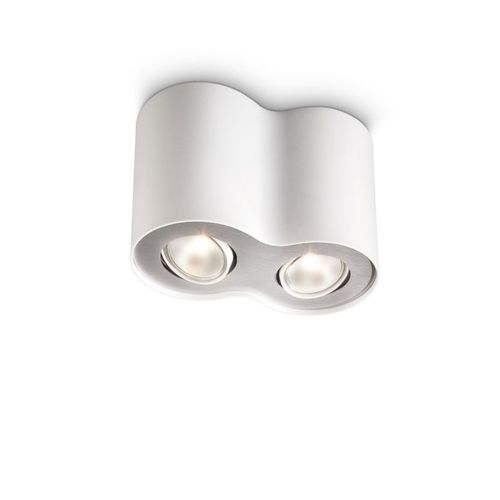 Philips spot Pillar wit 2xGU11