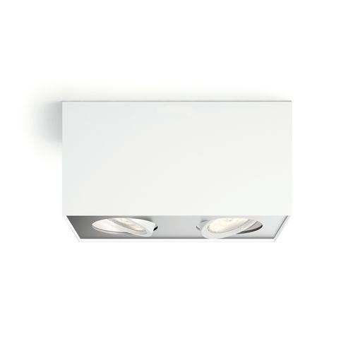 Philips spot LED Box blanc 2x5W