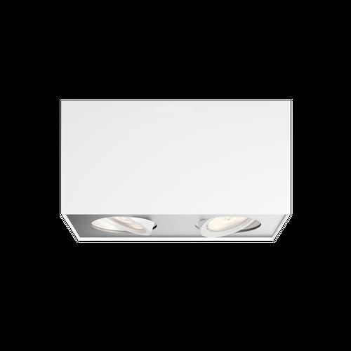 Philips spot LED Box blanc 2x5W