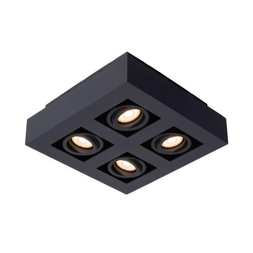 Lucide plafondlamp Xirax 4x5W zwart