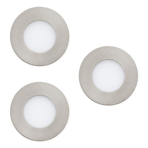 Spot encastrable LED EGLO Fueva-C gris 3x9W